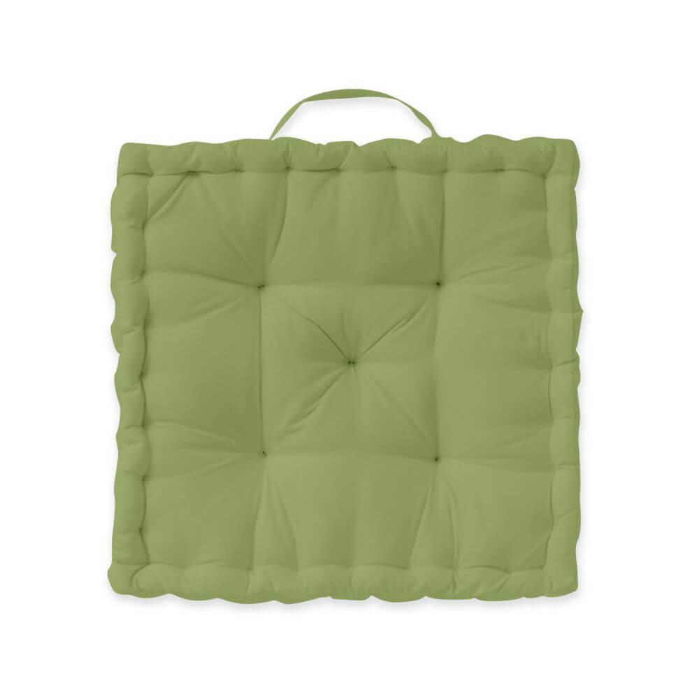 Coussin de sol garni - 40 x 40 cm x 12 cm - Today - Uni : Couleur:Bambou