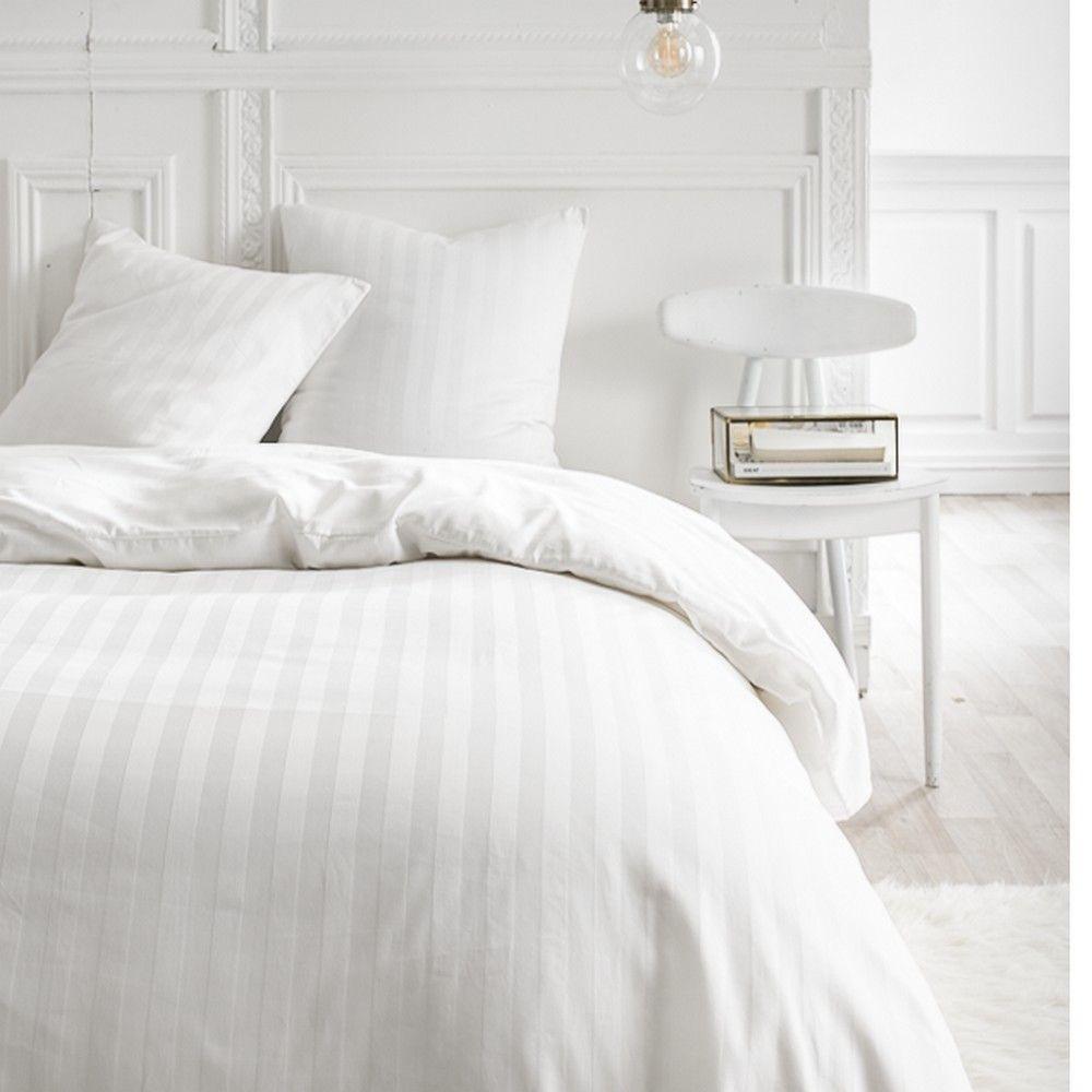 Housse de couette - 260 x 240 cm + taies - Percale - Félicie - Différents coloris : Couleur:Chantilly