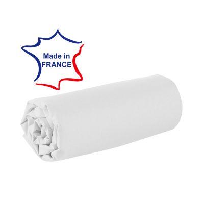 Drap housse - 100 x 190 cm - 100% coton - 57 fils - France