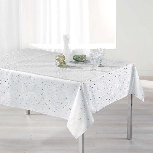 Nappe rectangle - 150 x 300 cm - Safina, reflets or / argent - Différents coloris