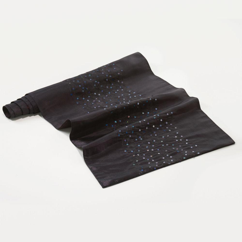 Chemin de table - 40 x 140 cm - Steely - Différents coloris : Couleur:Noir