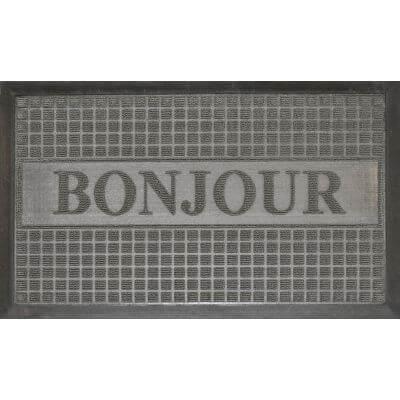 Tapis d'entrée antidérapant - 45 x 75 cm - Bonjour