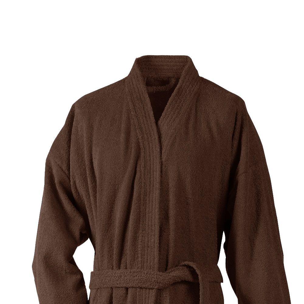 Peignoir adulte Taille L - Kimono éponge : Couleur:Marron