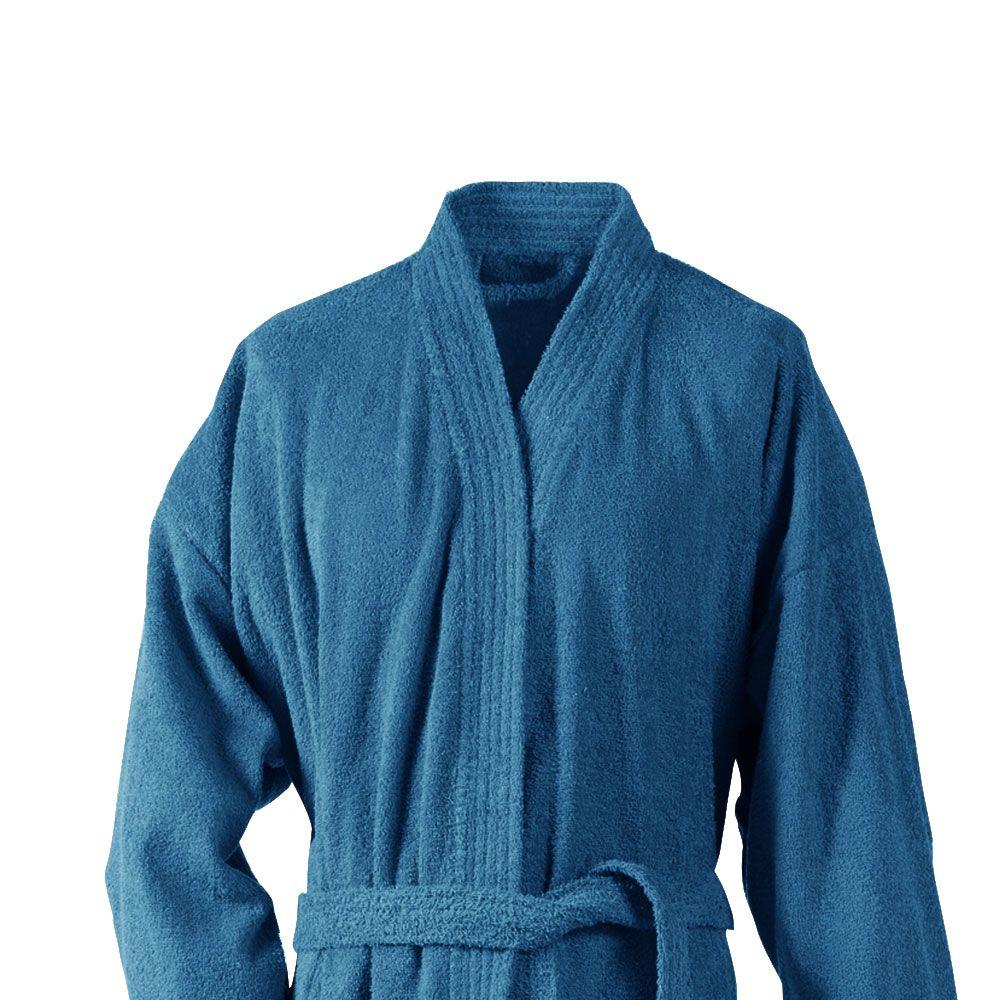 Peignoir adulte Taille L - Kimono éponge : Couleur:Turquoise
