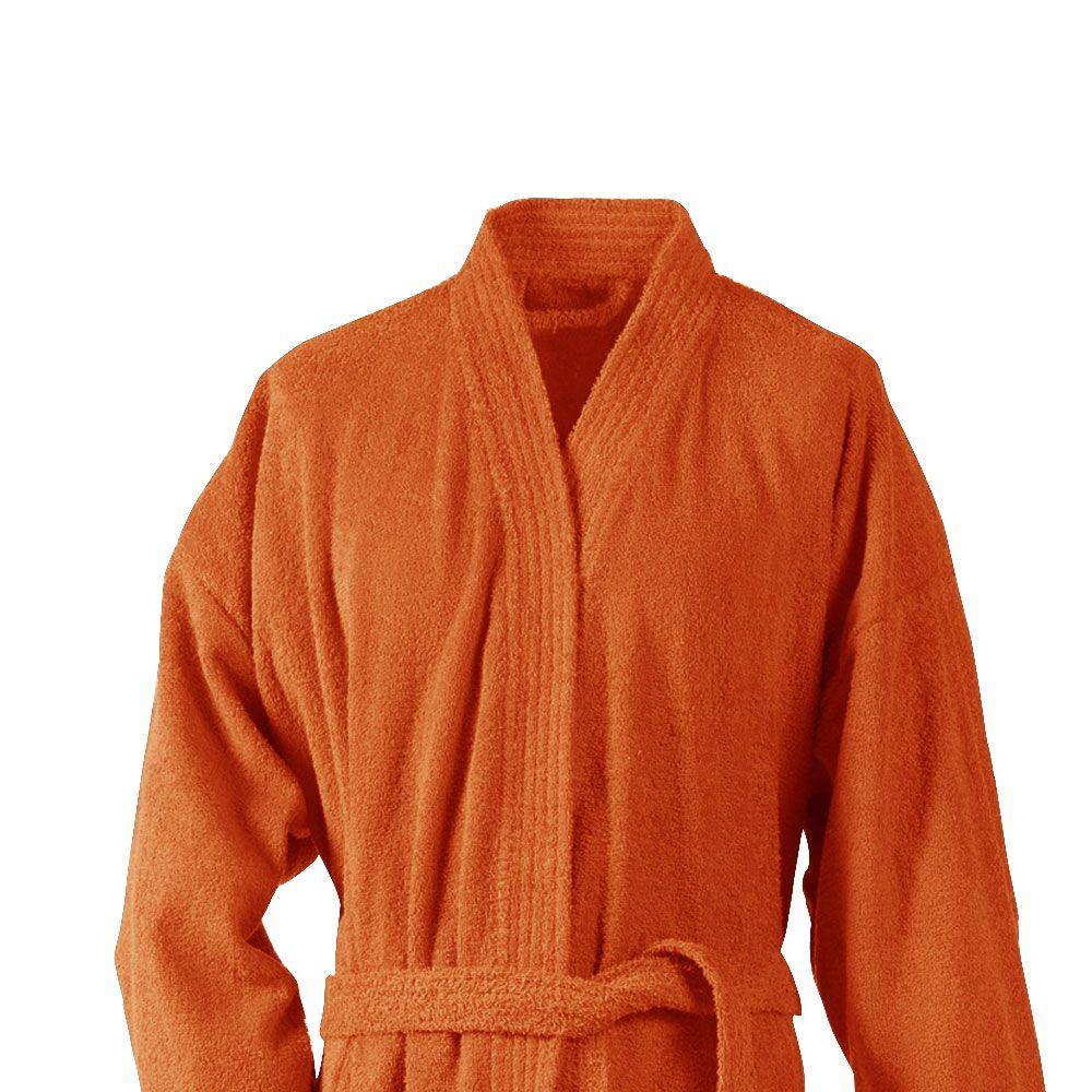 Peignoir adulte Taille L - Kimono éponge : Couleur:Rouille