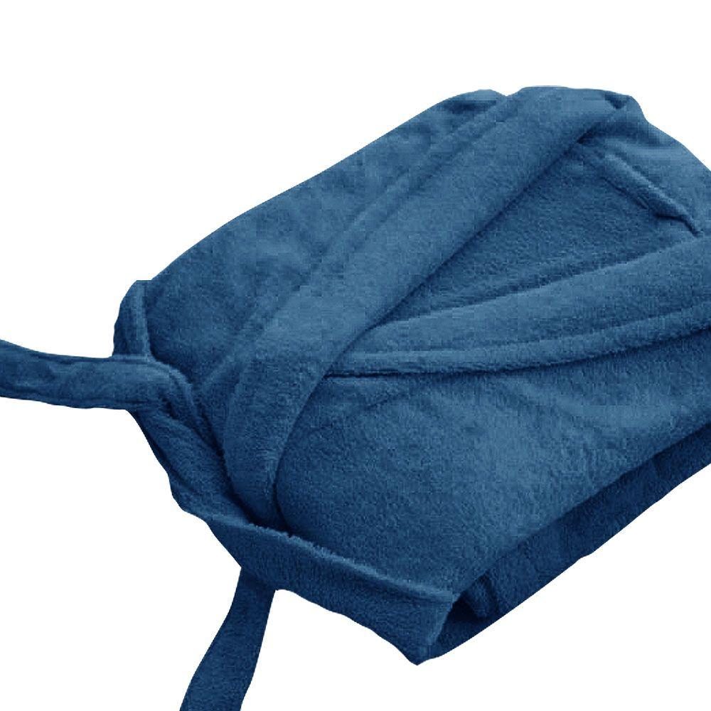 Peignoir adulte Taille L - Col chale éponge : Couleur:Turquoise