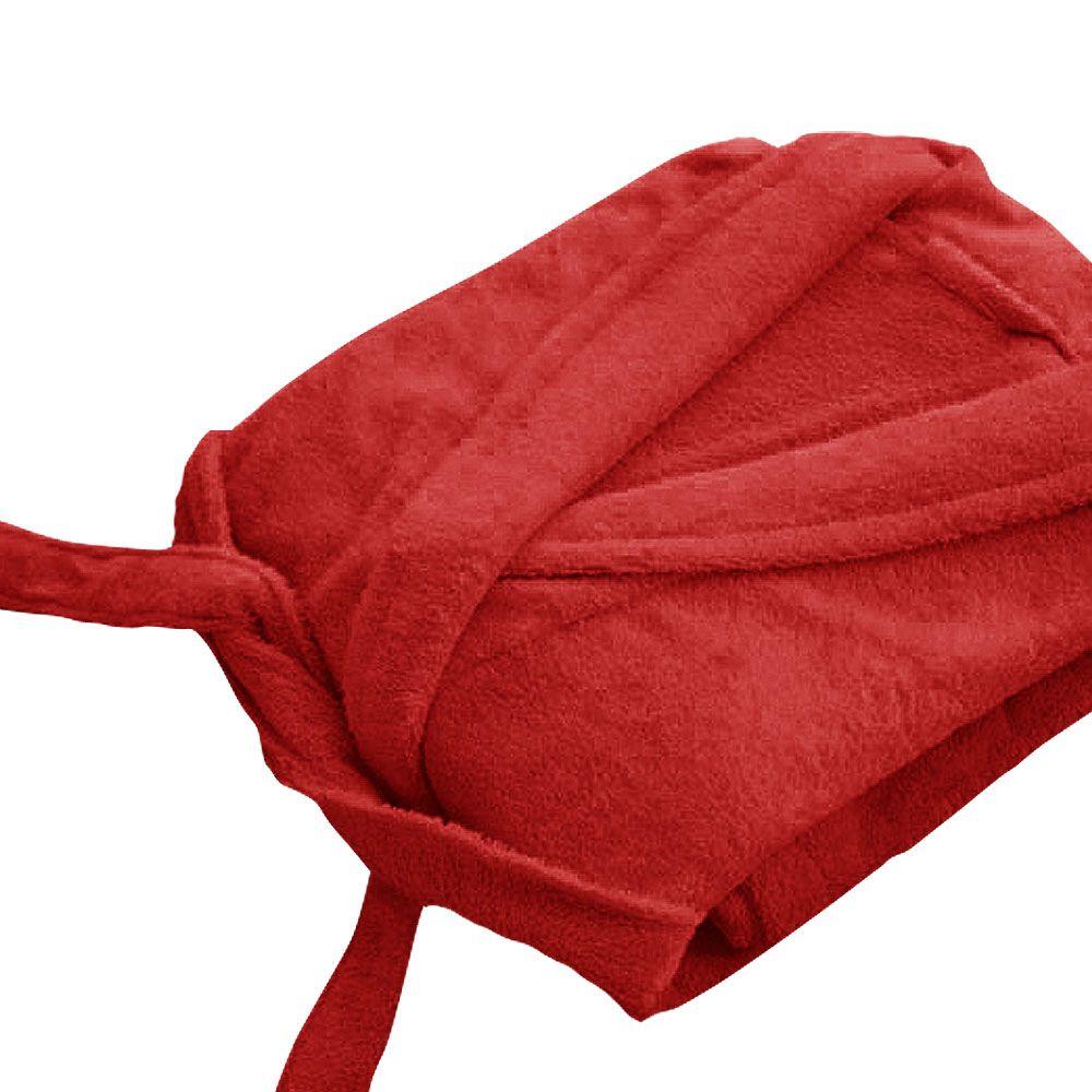 Peignoir adulte Taille M - Col chale éponge : Couleur:Rouge