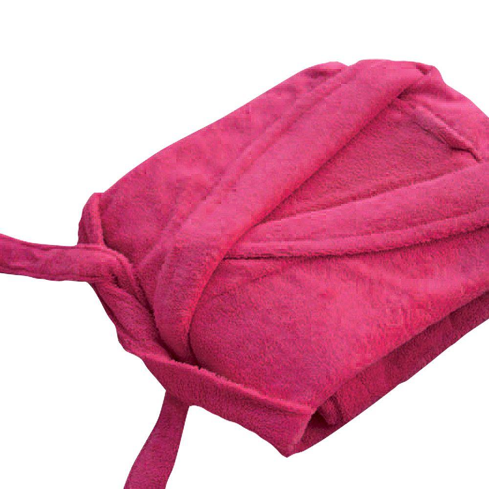 Peignoir adulte Taille XL - Col chale éponge : Couleur:Fuchsia