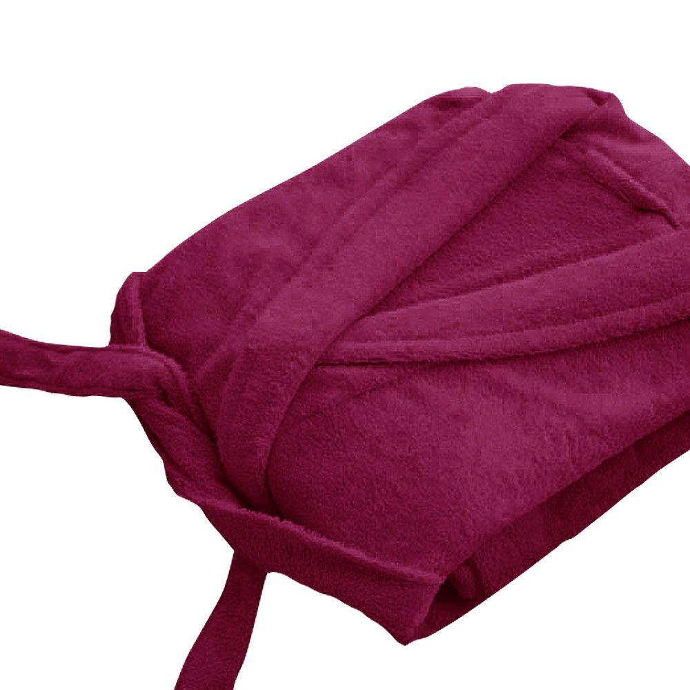 Peignoir adulte Taille XL - Col chale éponge : Couleur:Prune
