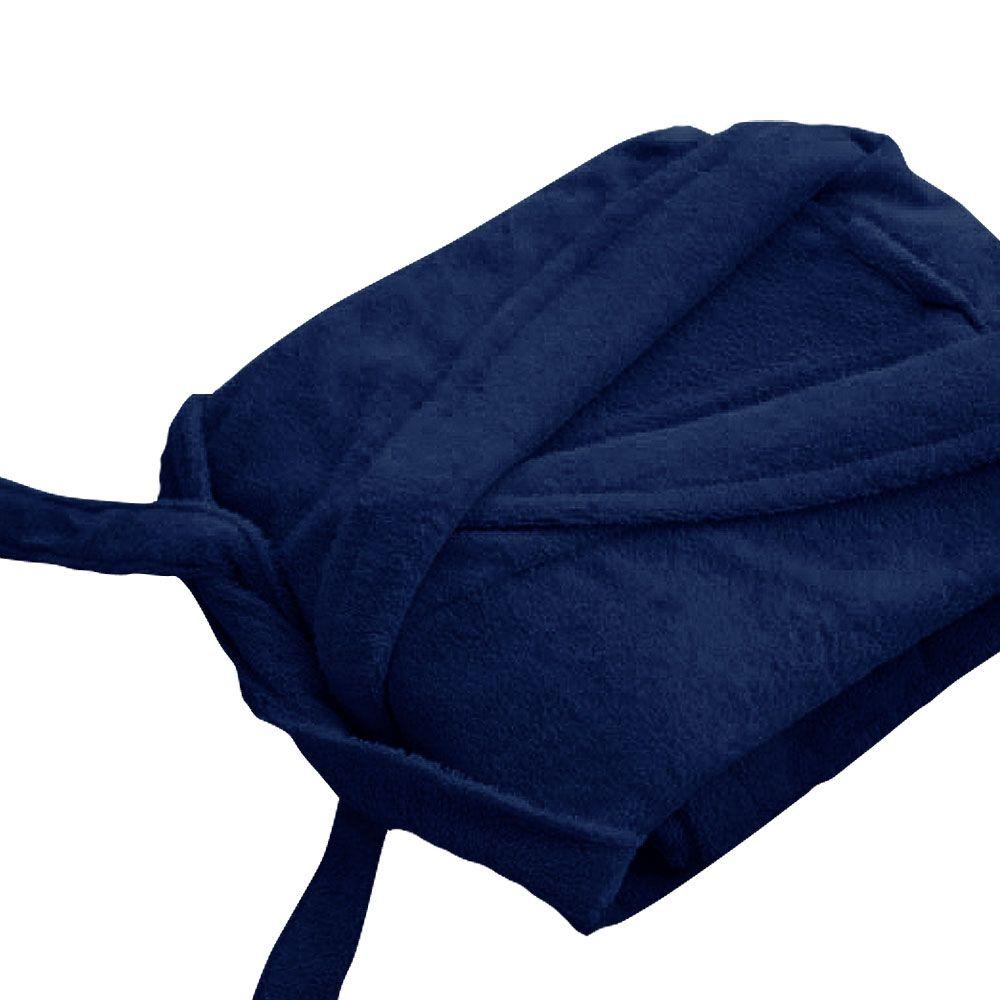 Peignoir adulte Taille XL - Col chale éponge : Couleur:Marine