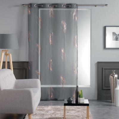 Panneau voile - Oeillets - 140 x 240 cm - Metallisé - Sensalia, plumes - Différents coloris