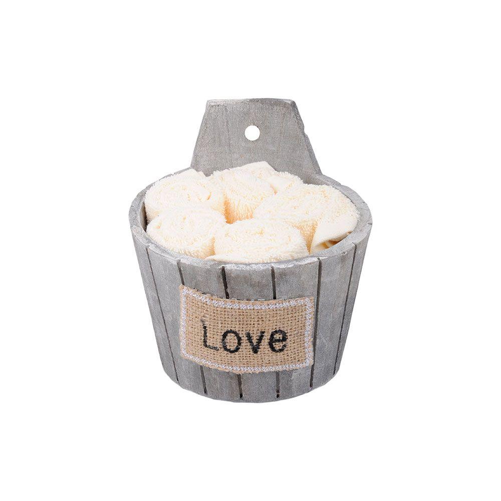 Coffret 5 serviettes - 30x30 - 100% coton - Douceur : Couleur:Perle