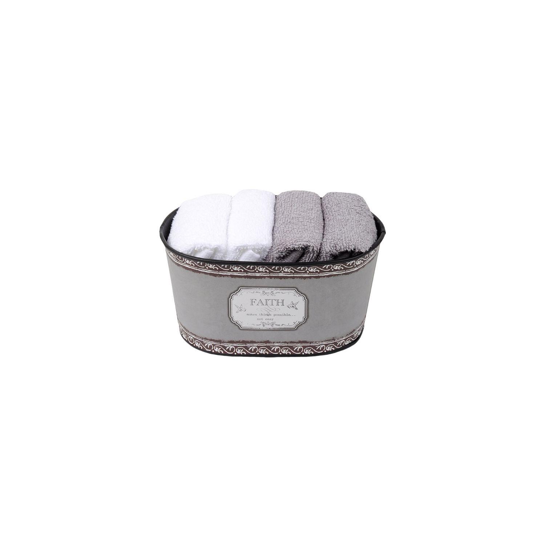 Coffret 4 serviettes - 30x30 - 100% coton - Faith