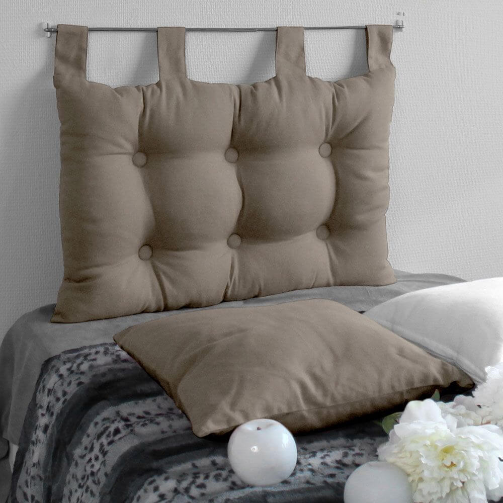 Tête de lit à pattes - 45 x 70 cm - Différents coloris : Couleur:Taupe