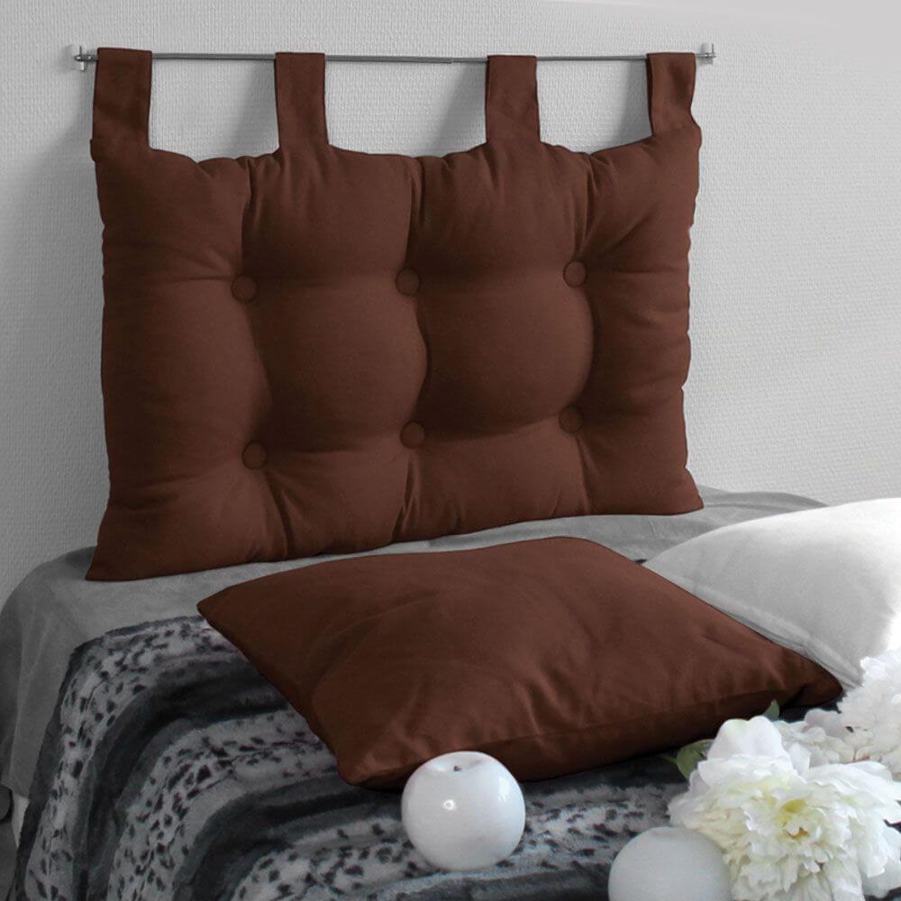 Tête de lit à pattes - 45 x 70 cm - Différents coloris : Couleur:Chocolat