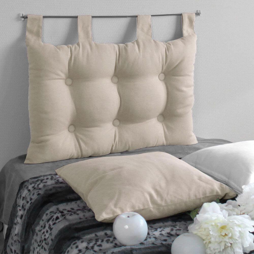 Tête de lit à pattes - 45 x 70 cm - Différents coloris : Couleur:Écru