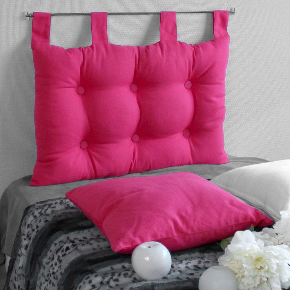 Tête de lit à pattes - 45 x 70 cm - Différents coloris : Couleur:Fuchsia