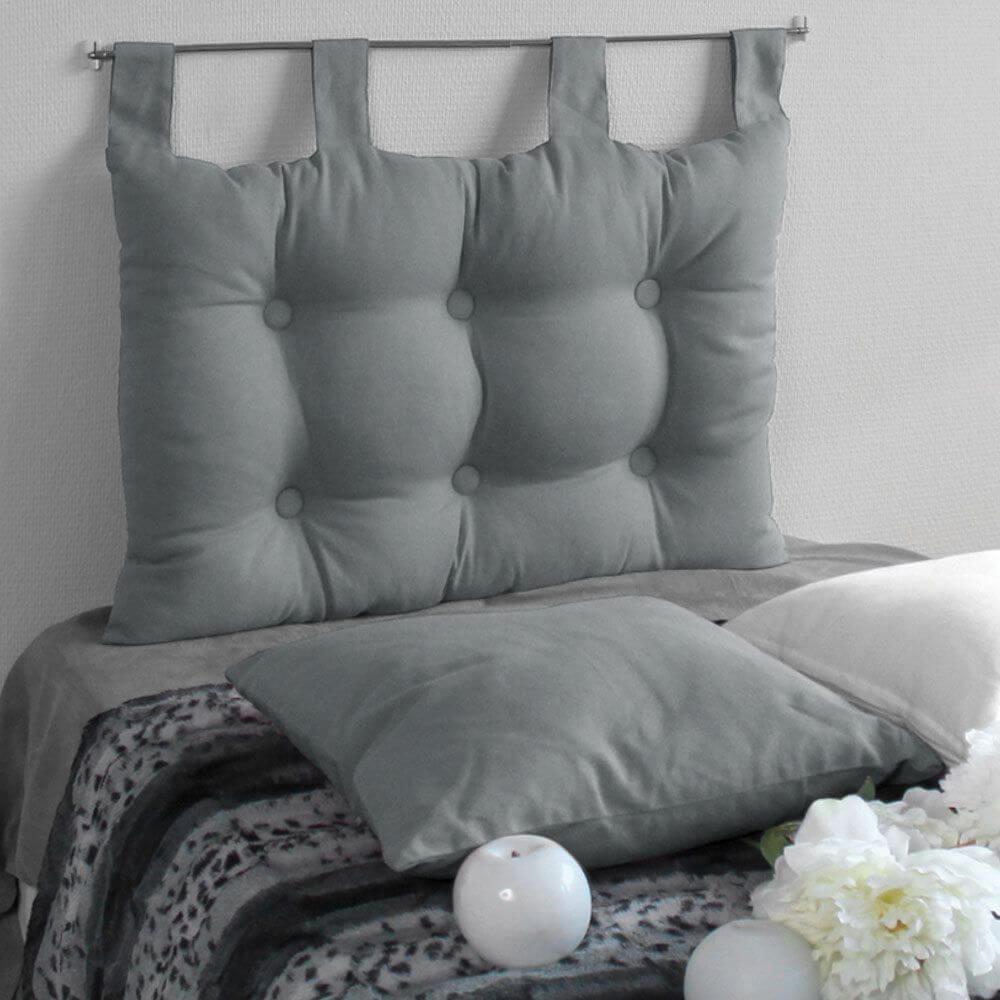 Tête de lit à pattes - 45 x 70 cm - Différents coloris : Couleur:Gris