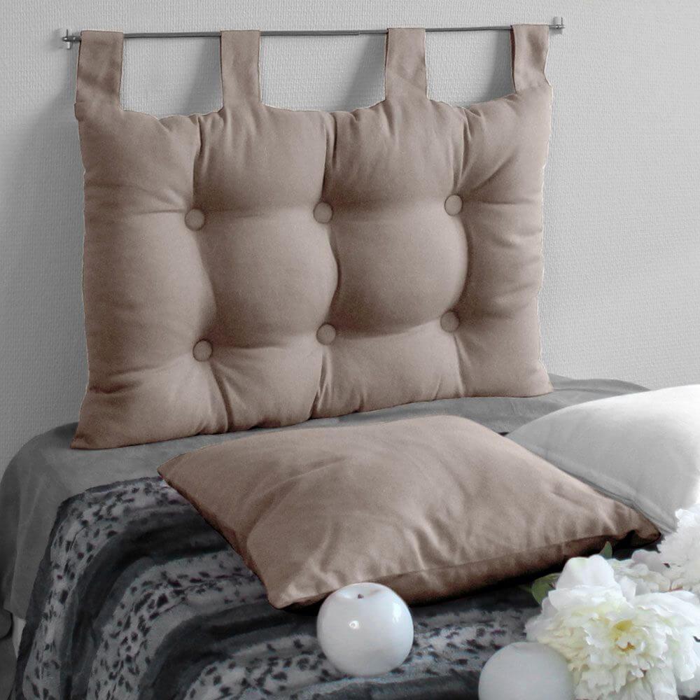 Tête de lit à pattes - 45 x 70 cm - Différents coloris : Couleur:Naturel