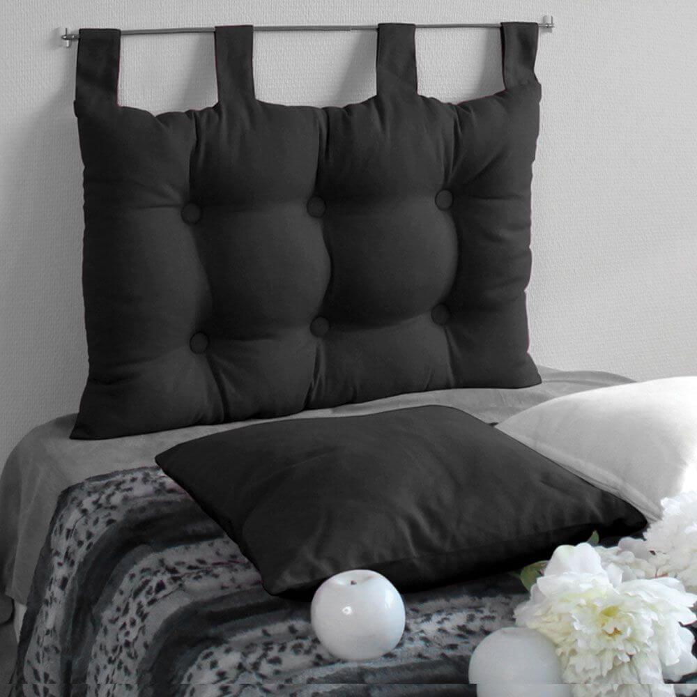 Tête de lit à pattes - 45 x 70 cm - Différents coloris : Couleur:Noir