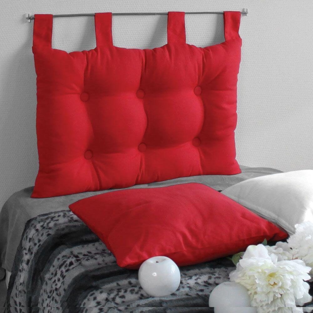 Tête de lit à pattes - 45 x 70 cm - Différents coloris : Couleur:Rouge