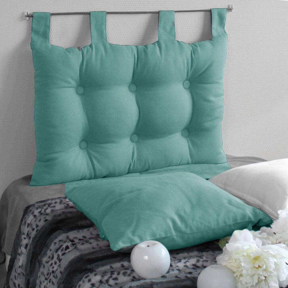 Tête de lit à pattes - 45 x 70 cm - Différents coloris : Couleur:Aqua