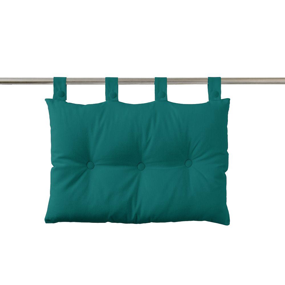 Tête de lit à pattes - 50 x 70 cm - uni Today : Couleur:Emeraude