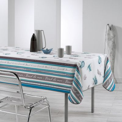 Nappe anti-tache - Rectangle - 150 x 240 cm - Seaside - Deux coloris