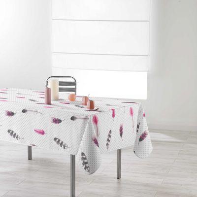 Nappe anti-tache - Rectangle - 150 x 240 cm - Evanescence, plumes