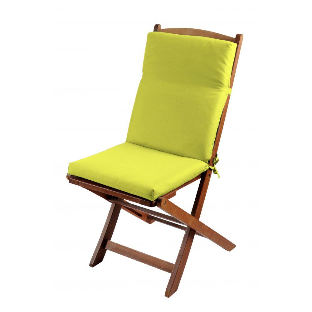 Coussin de fauteuil spécial extérieur - 90 x 40 cm - Sunny - Différents coloris : Couleur:Anis