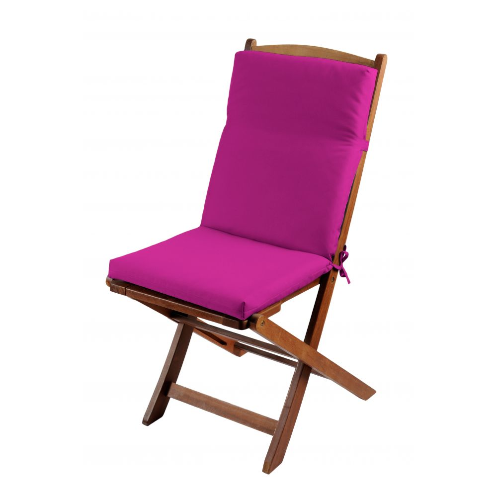 Coussin de fauteuil spécial extérieur - 90 x 40 cm - Sunny - Différents coloris : Couleur:Fuchsia