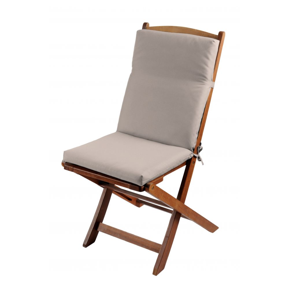 Coussin de fauteuil spécial extérieur - 90 x 40 cm - Sunny - Différents coloris : Couleur:Taupe