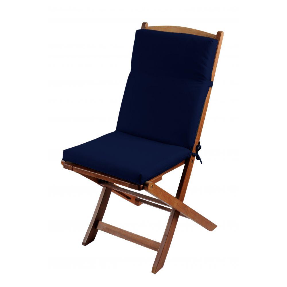Coussin de fauteuil spécial extérieur - 90 x 40 cm - Sunny - Différents coloris : Couleur:Marine