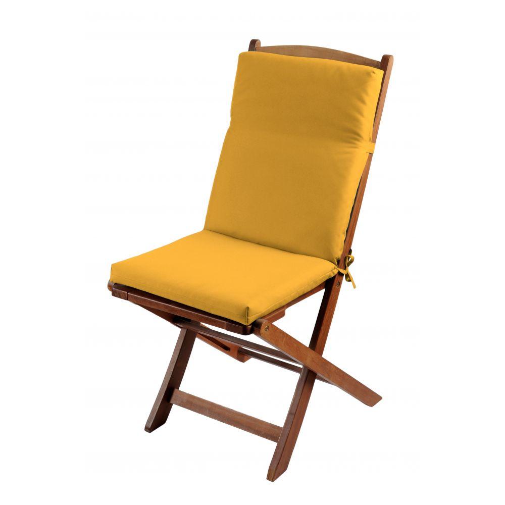 Coussin de fauteuil spécial extérieur - 90 x 40 cm - Sunny - Différents coloris : Couleur:Mimosa