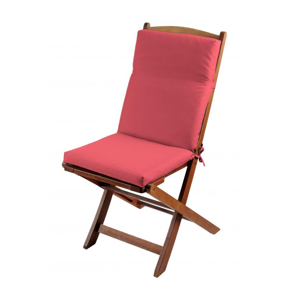Coussin de fauteuil spécial extérieur - 90 x 40 cm - Sunny - Différents coloris : Couleur:Pastèque