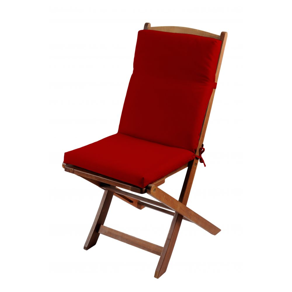 Coussin de fauteuil spécial extérieur - 90 x 40 cm - Sunny - Différents coloris : Couleur:Rouge