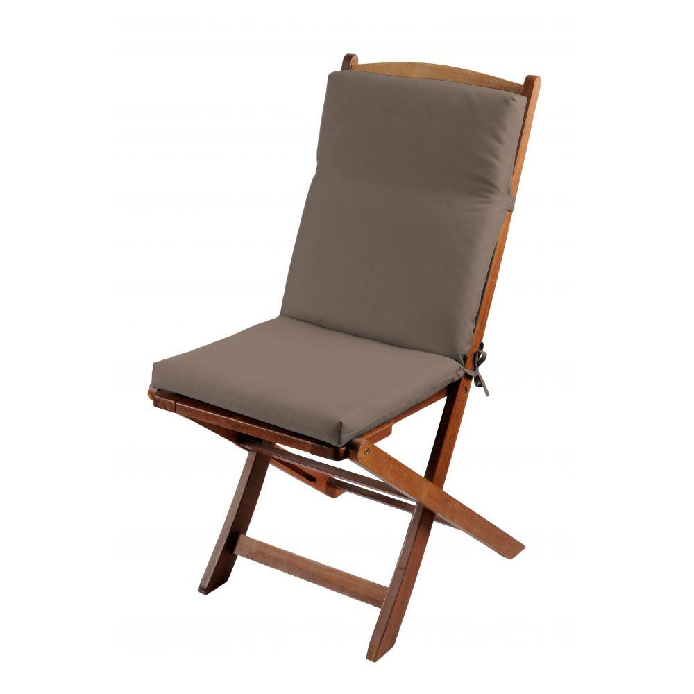 Coussin de fauteuil spécial extérieur - 90 x 40 cm - Sunny - Différents coloris : Couleur:Gris