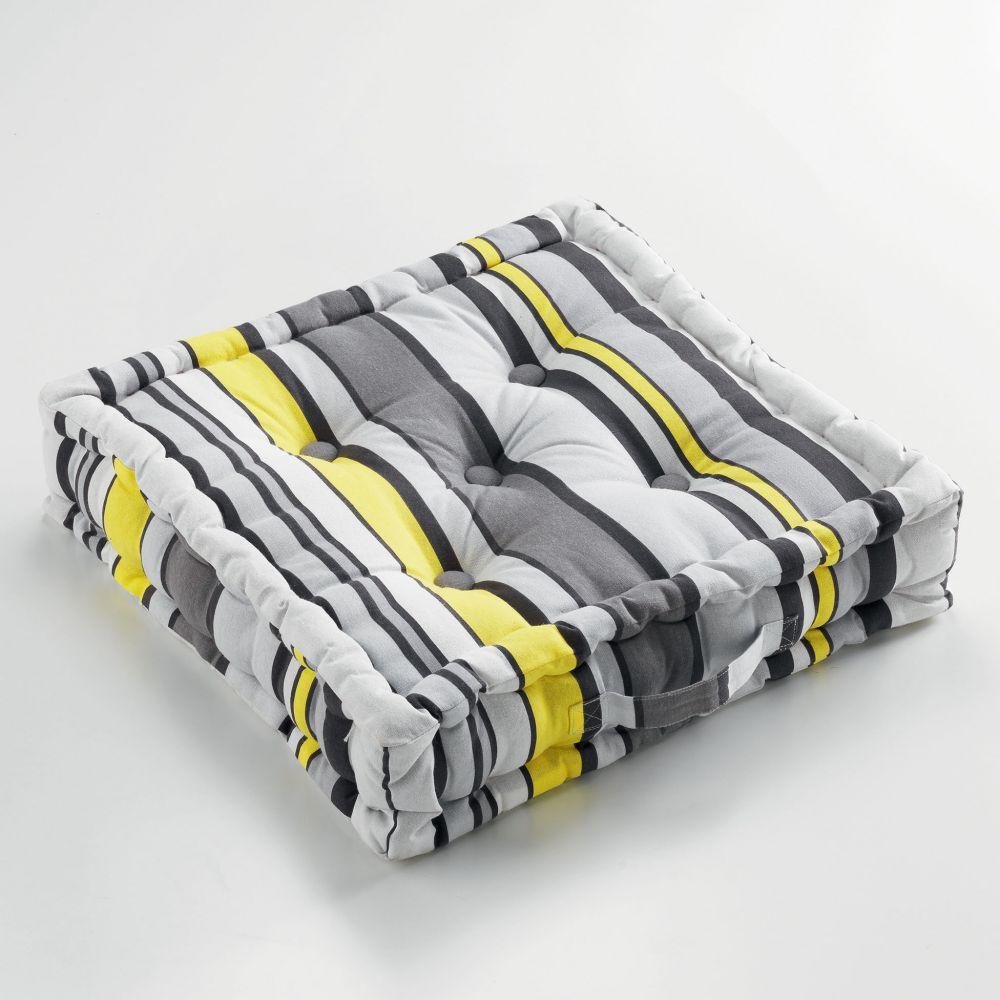 Coussin de sol garni - 45 x 45 cm x 10 cm - Marina - Différents coloris : Couleur:Jaune