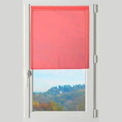 Rideau brise bise - 45 x 60 cm - Lisa - Rouge