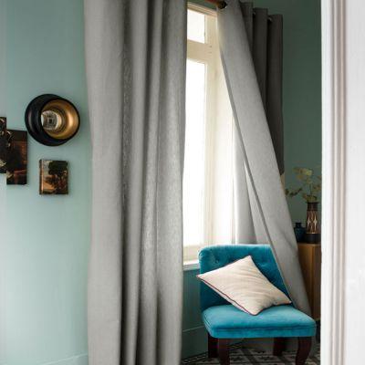 Rideau panneau - Oeillets - 140 x 240 cm - Linéo - Effet lin - Différents coloris