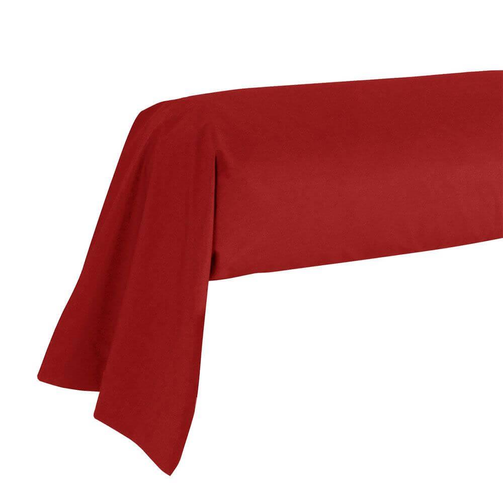 Taie de traversin - 43 x 185 cm - 100% coton - France : Couleur:Bordeaux