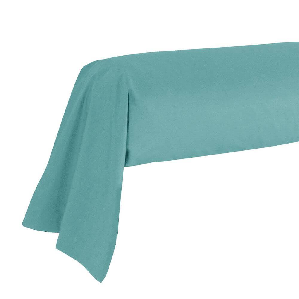 Taie de traversin - 43 x 185 cm - 100% coton - France : Couleur:Turquoise