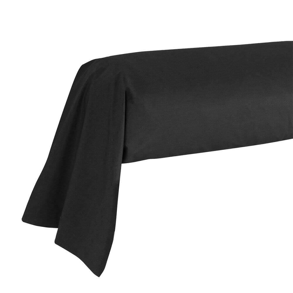 Taie de traversin - 43 x 185 cm - 100% coton - France : Couleur:Noir