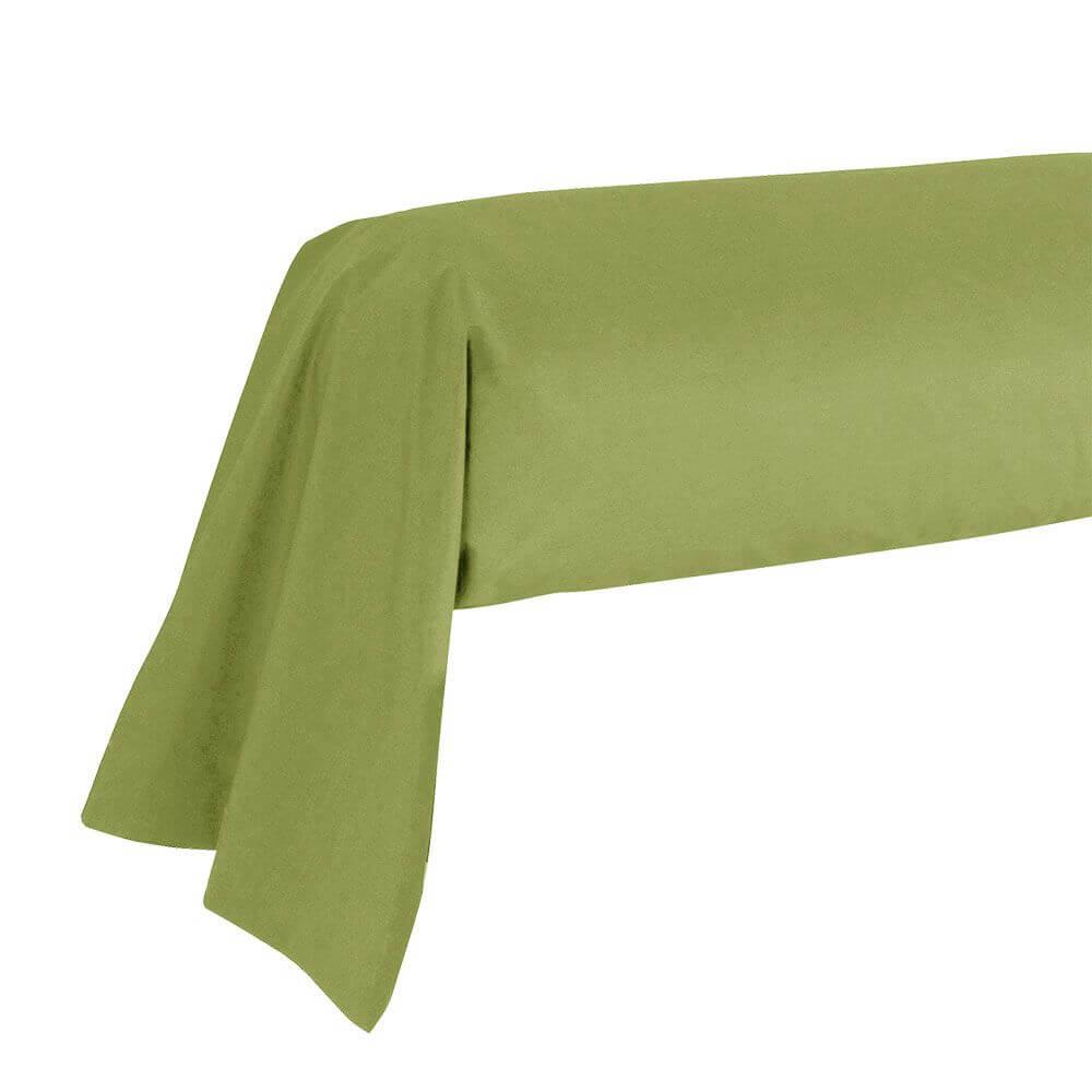 Taie de traversin - 43 x 185 cm - 100% coton - France : Couleur:Vert