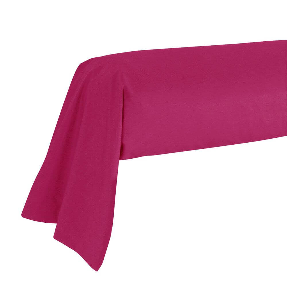 Taie de traversin - 43 x 185 cm - 100% coton - France : Couleur:Fuchsia