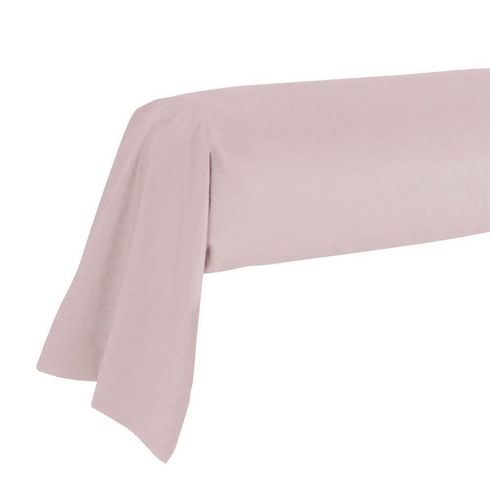 Taie de traversin - 43 x 185 cm - 100% coton - France : Couleur:Rose