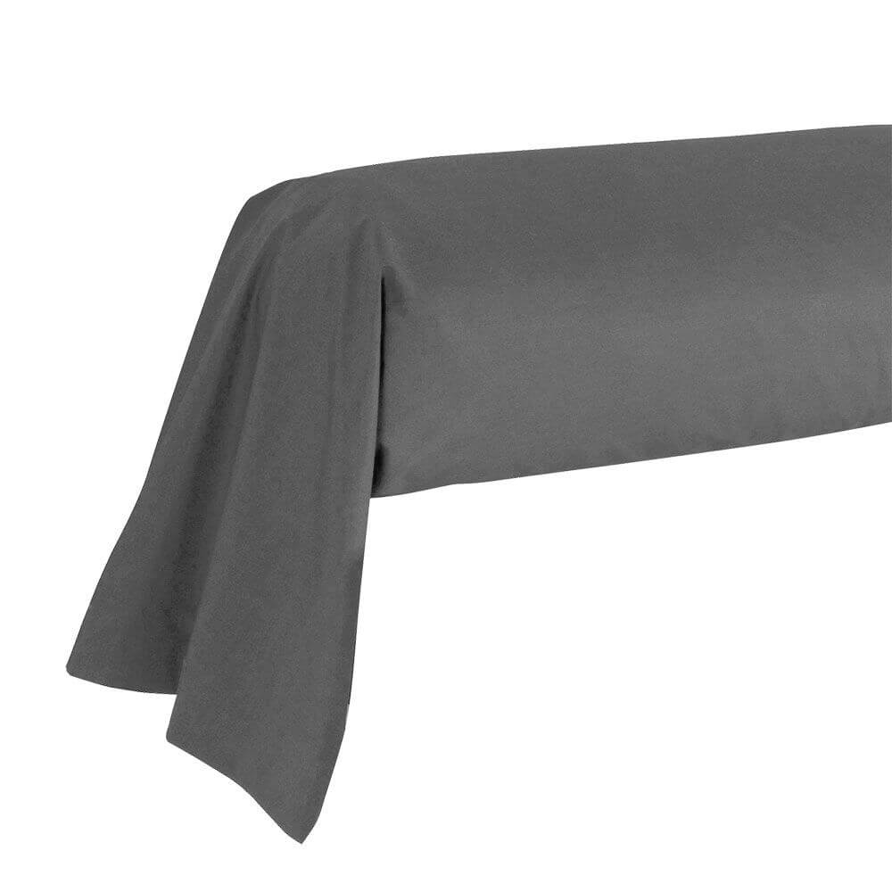 Taie de traversin - 43 x 185 cm - 100% coton - France : Couleur:Gris