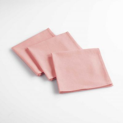 Lot de 6 serviettes de table - Unies - 40 x 40 cm - Coton