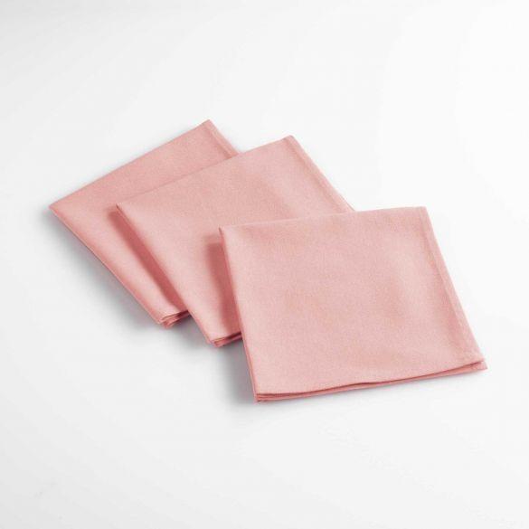 Lot de 6 serviettes de table - Unies - 40 x 40 cm - Coton