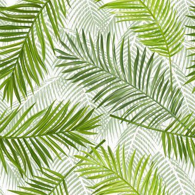 Toile cirée au mètre - Forêt tropicale - Palmier - Largeur 140 cm